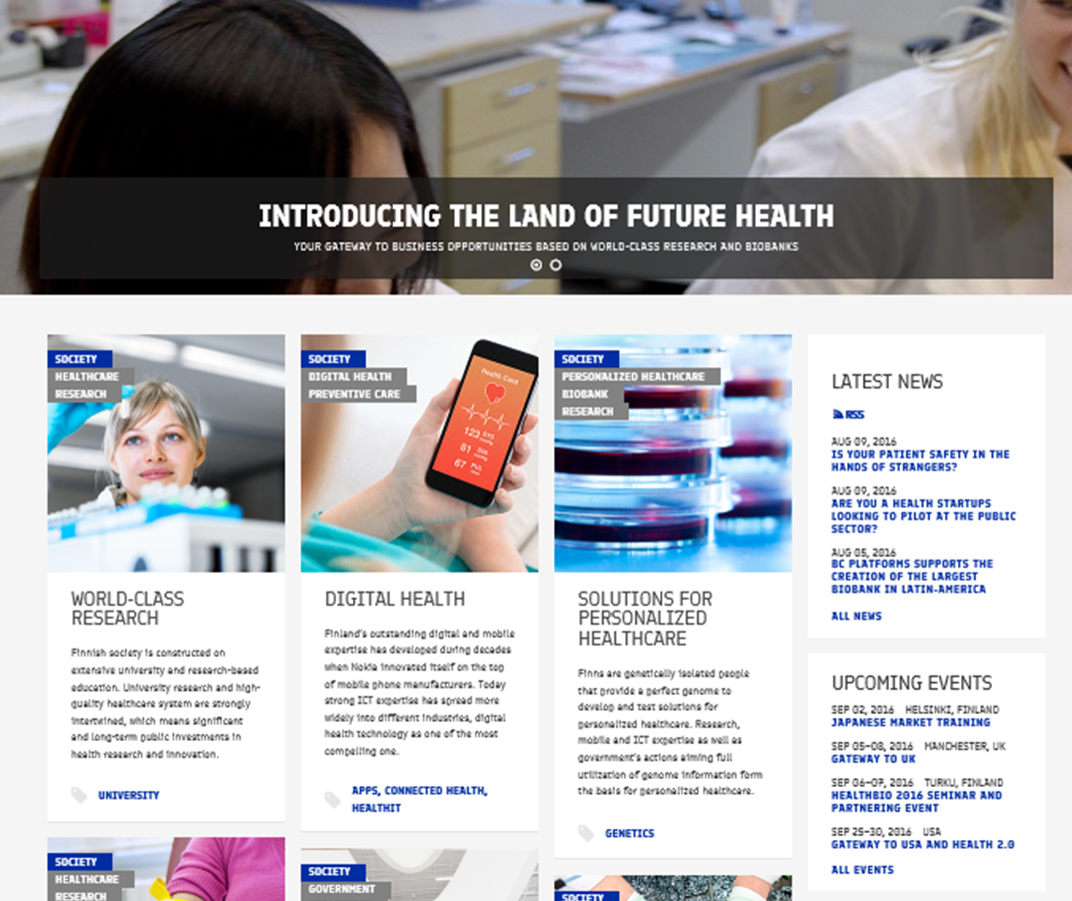 Finlandhealth.fi web portal launched